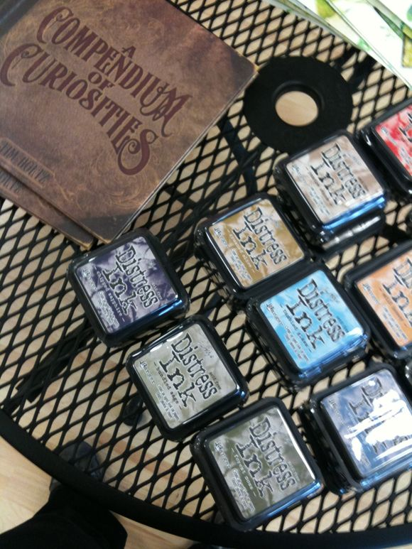 new tim holtz distress inks and idea book is here!!!