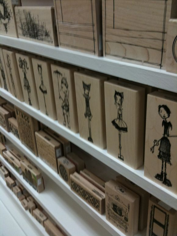stampotique: artsy girls and funky people back in stock!!