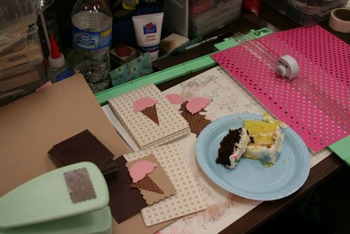2009 spring studio crop:work space.. with a dash of sugar!