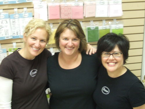 2008: linda and julie from a muse visit colorful creations