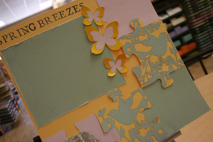 spring breezes single page layout $6