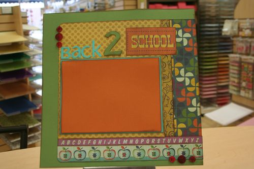 back to school single page layout $8