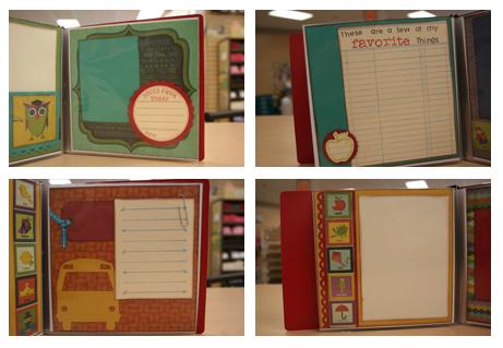 School Album 6x6 mini book $20